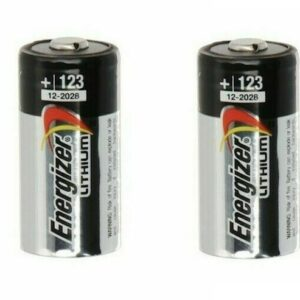 2x Energizer CR123 CR123A 3V Heavy Duty Industrial Lithium Battery