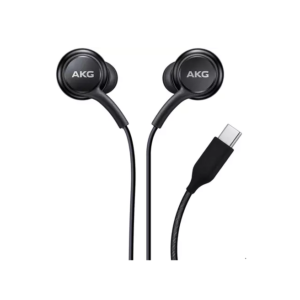 AKG Type C Black Earphones Headphones for Samsung S7, S8, S9, S10, Note 10, Note 20