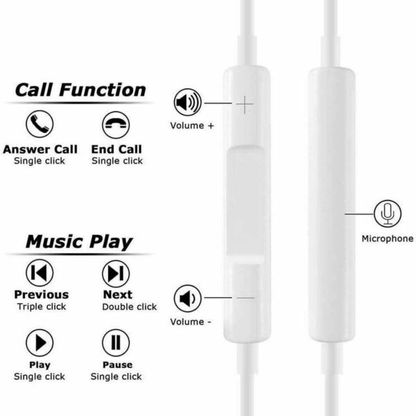 Apple iPhone Lightning Wired Earphones Handsfree for 7, 8, X, XS, XR, 11, 12 With Mic for sale in the UK