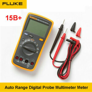 FLUKE 15B+ Digital Auto Manual Multimeter DMM Temperature & Volt Tester Handheld